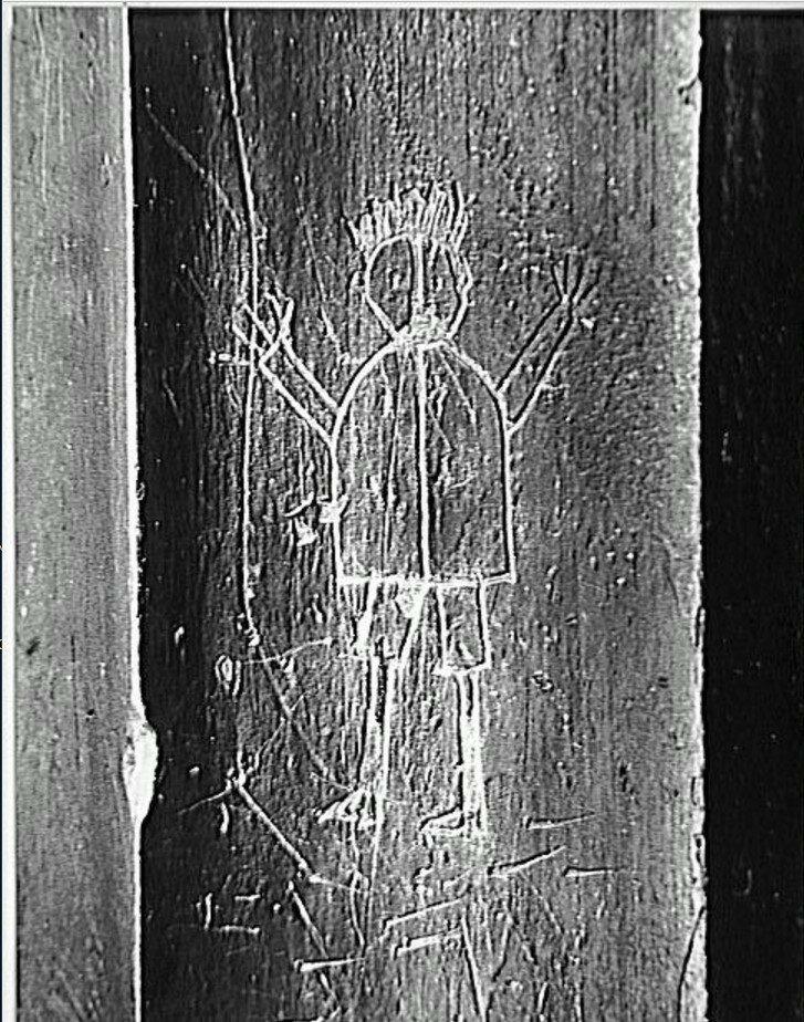 1935. Граффити. Серия IX. Примитивные образы