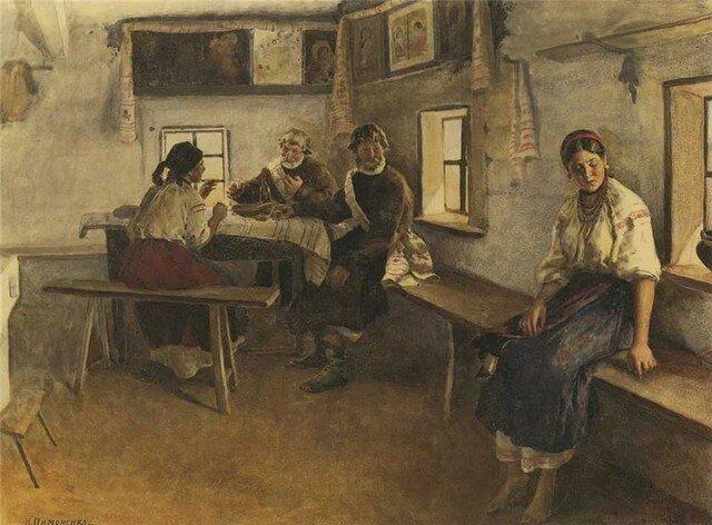 1896, Пимоненко, Засватали.jpg