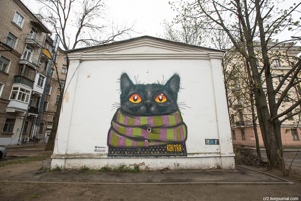 В Минске закрасили кота