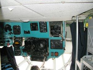 День воздушного флота на аэродроме в Кречевицах - приборы в кабине штурмана самолёта ИЛ-76МД