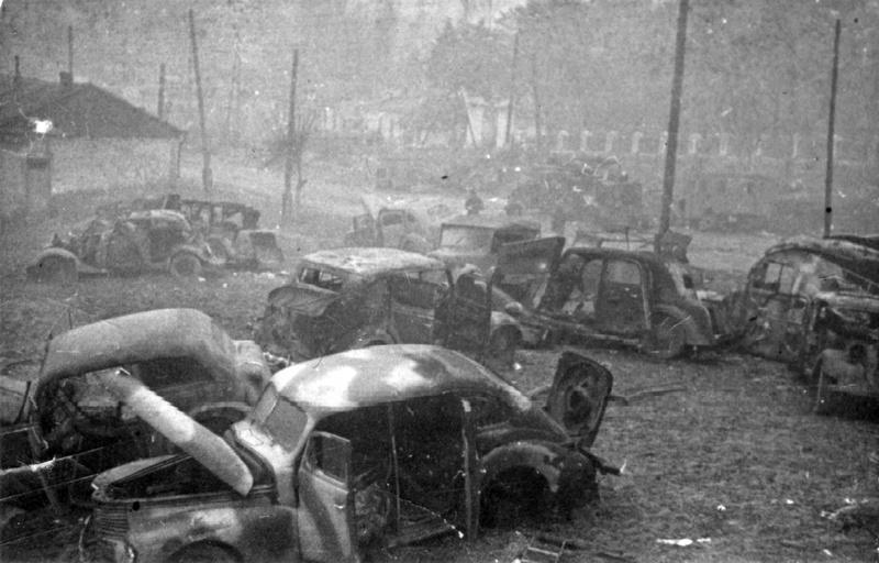 Разбитая немецкая техника в Виннице