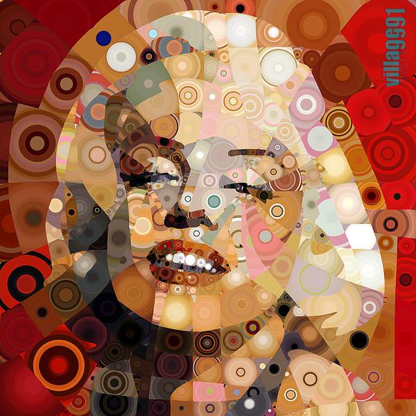 """Цифровые """"мозаичные"""" портреты Antonio Chiesa aka Village9991"""