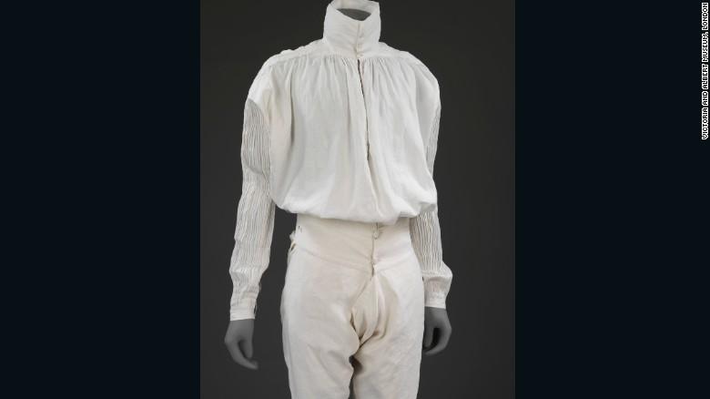 Мужская льняная рубашка и кальсоны, Великобритания, 1775.