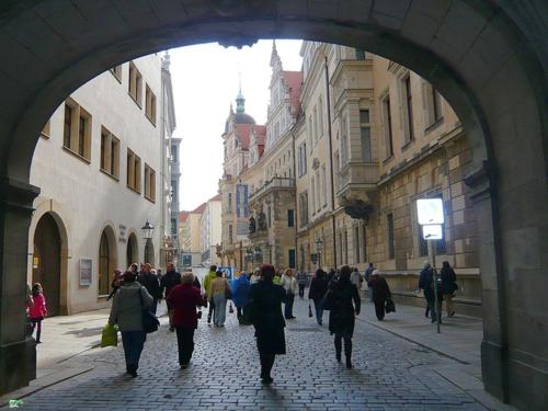 Дрезден. Улочки старого города.