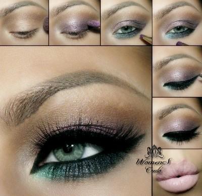 Фотоуроки макияжа зеленых глаз