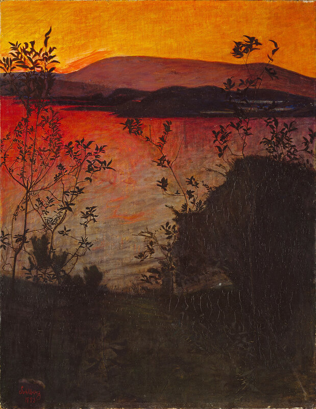 Harald Sohlberg - Evening Glow
