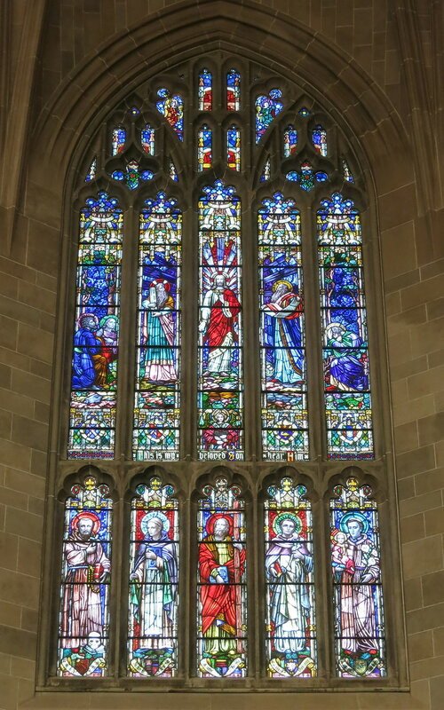 Cathedral of the Most Blessed Sacrament (Detroit, Michigan) - stained glass, The Transfiguration.
