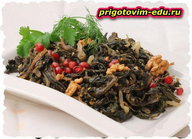 Салат из авелука с грецкими орехами