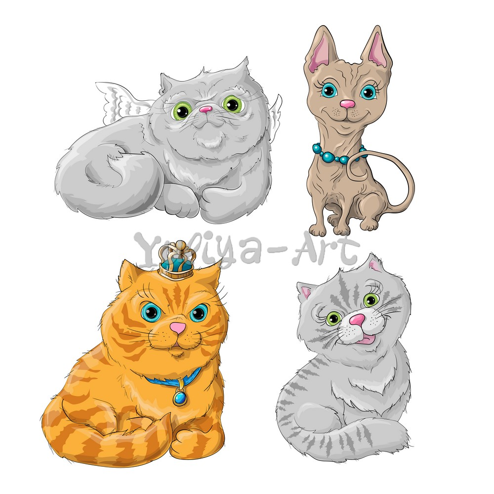 Illustration of a cute cats