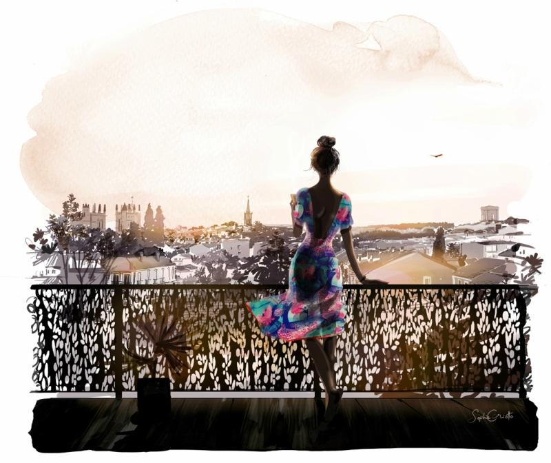 Софи Гриотто: иллюстрации с атмосферой уличной моды