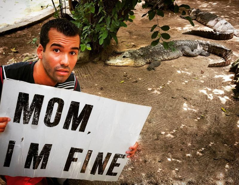 Безработный путешественник регулярно убеждает маму, что с ним все в порядке