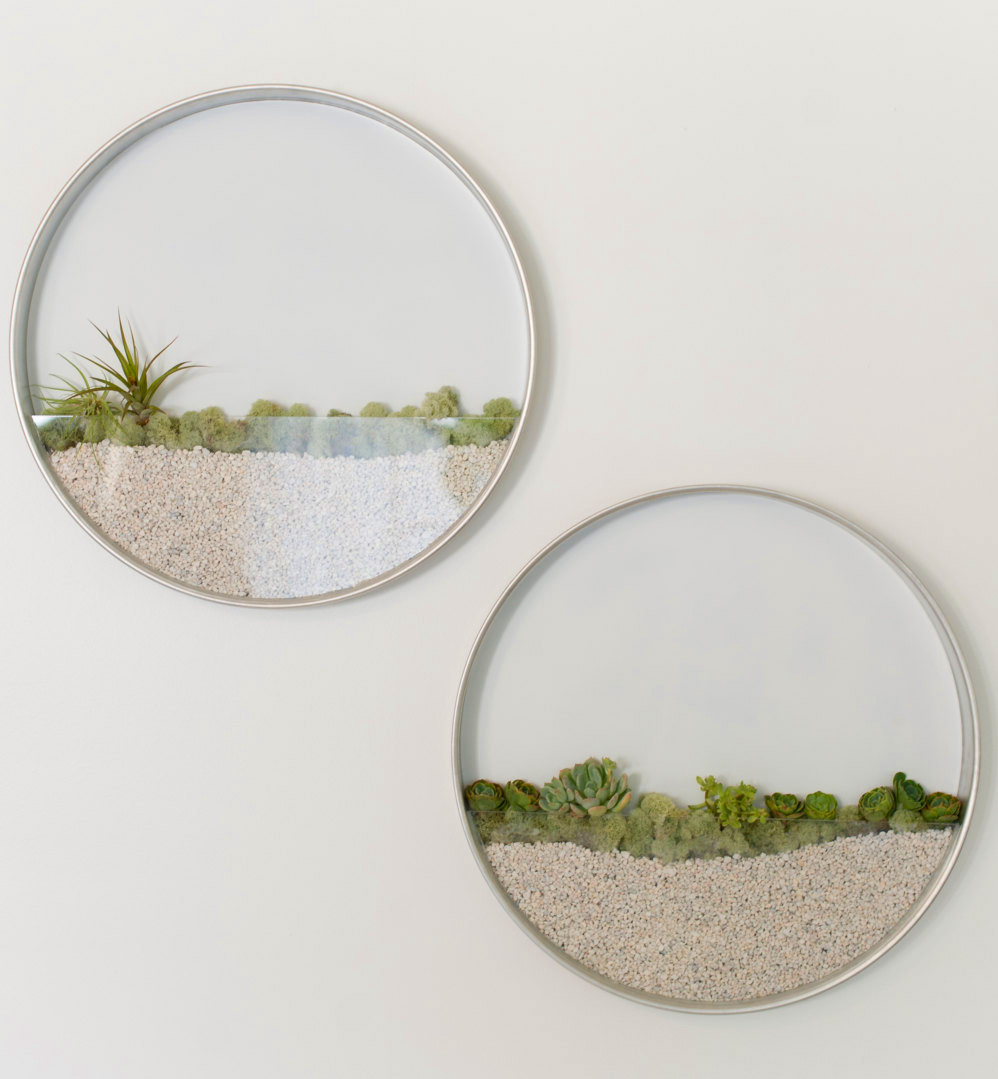 Circular Framed Planters Add Living Art to Your Walls (4 pics)