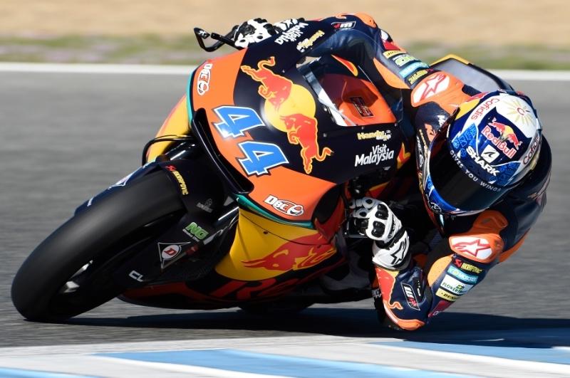 Мигель Оливейра (KTM) - лучший по итогам 1-го дня тестов Moto2 в Хересе