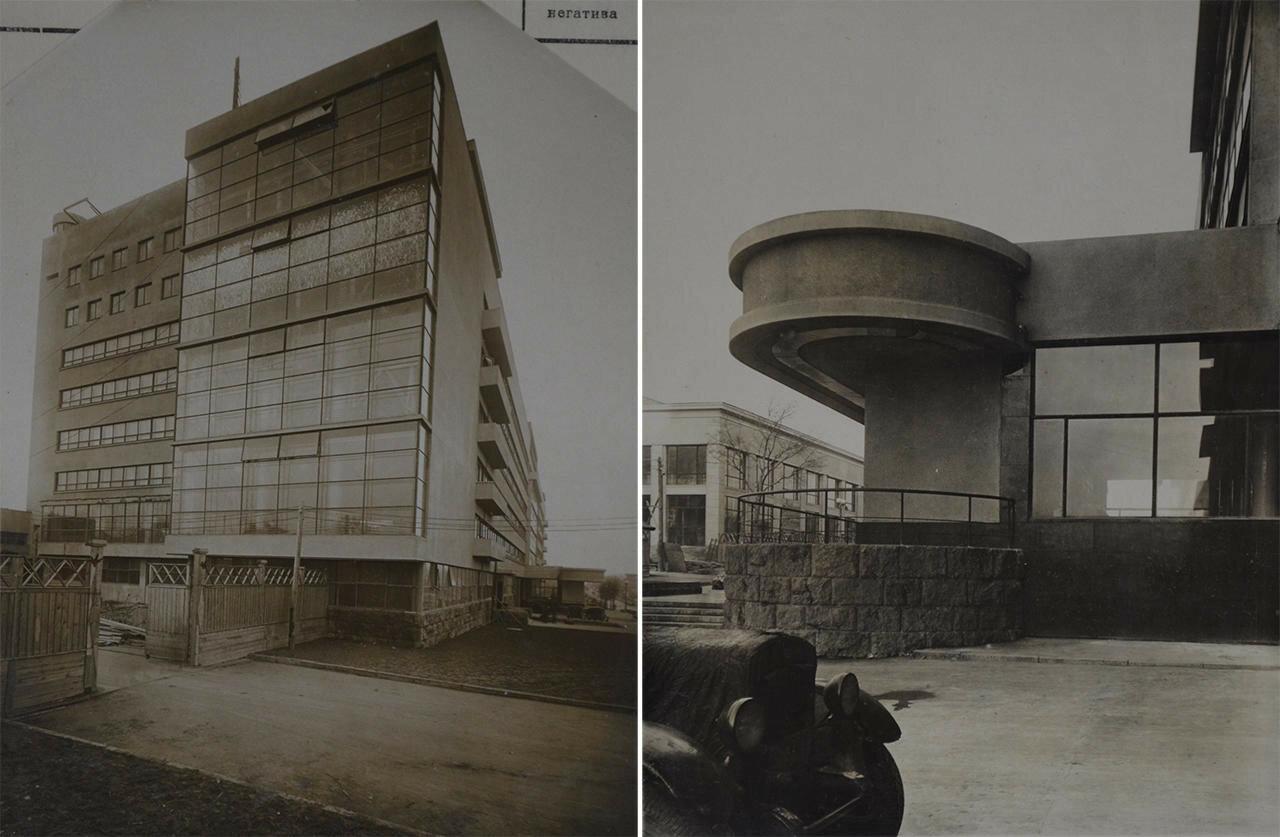 1935. Фрагменты фасада комбината газеты «Правда». Архитектор Голосов И.А.