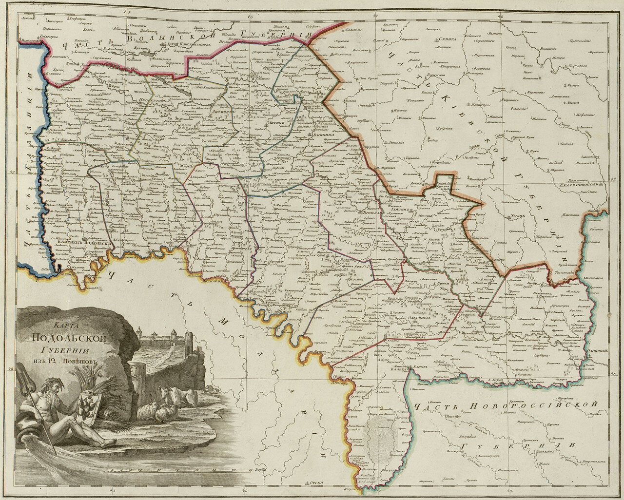 40. Карта Подольской губернии