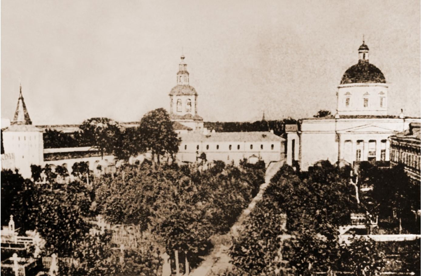 Некрополь Данилова монастыря.1908