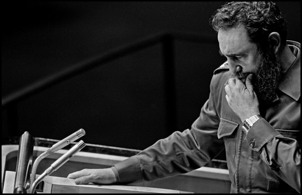 USA. New York City. Fidel CASTRO at the United Nations General Assembly meeting. October 12, 1979.jpg