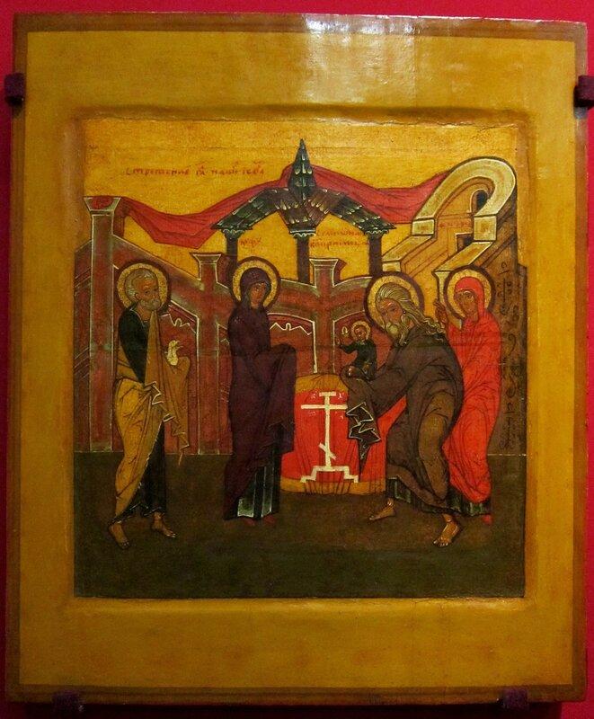 Сретение Господне. Конец XVI века. Русский Север.