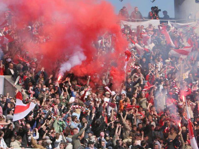 Массовая драка футбольных фанатов произошла настадионе «Северный» вНижнем Новгороде