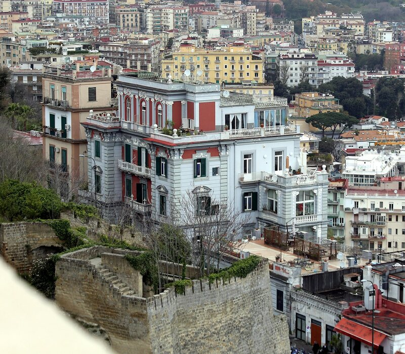 Naples. View from the castle of St. Elmo