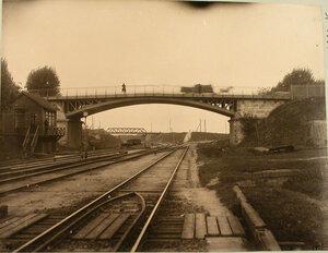 Вид моста и части путепровода. Гродненская губ. Белосток г.