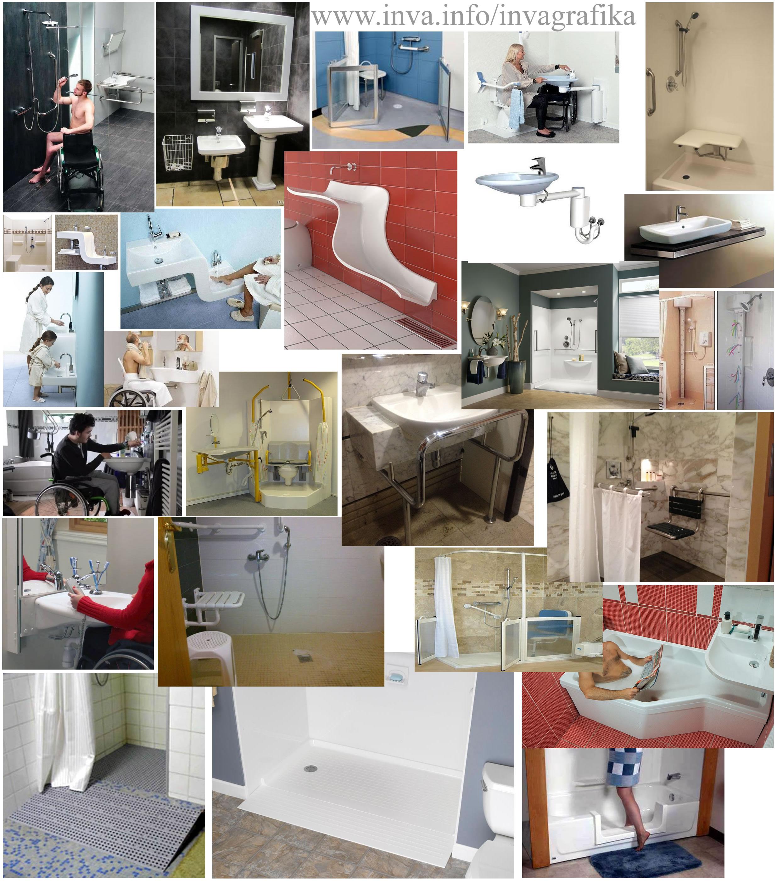 Сантехника в ванной для инвалидов