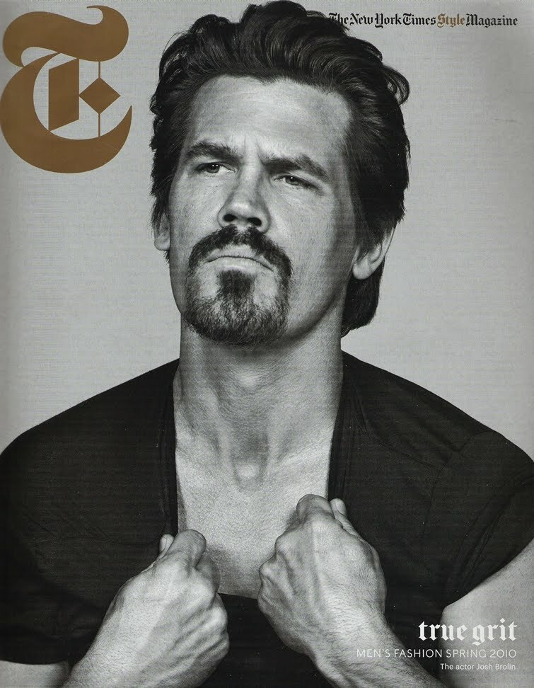 josh brolin inez & vinoodh michael philouze the new york times t style men's fashion spring 2010