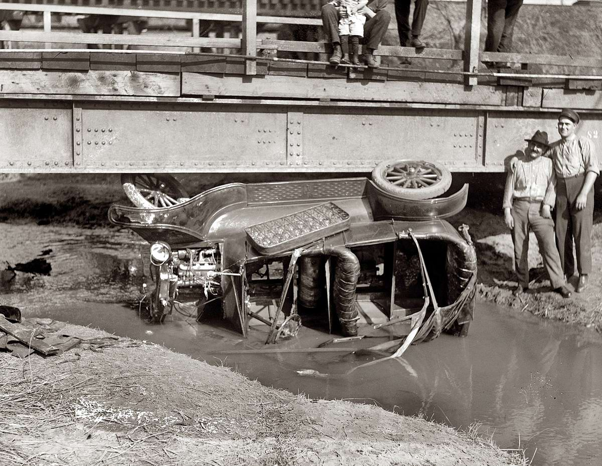 Улетел с моста в речку (1921 год)