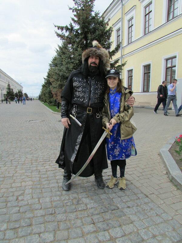 Катёна на день и ночь музеев в Казанском Кремле