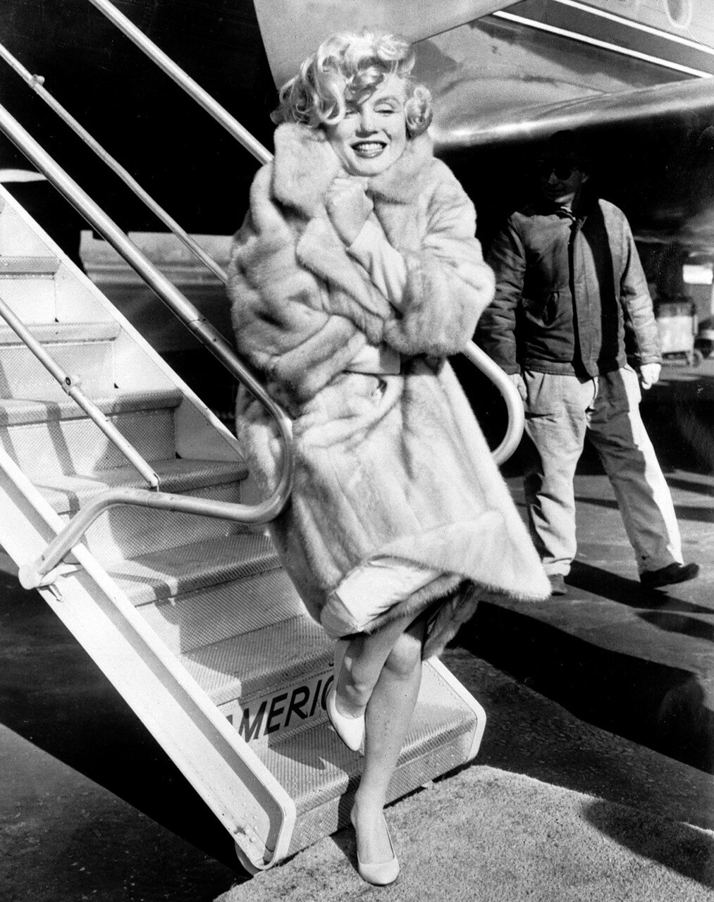 American actress Marilyn Monroe poses in 1959 for