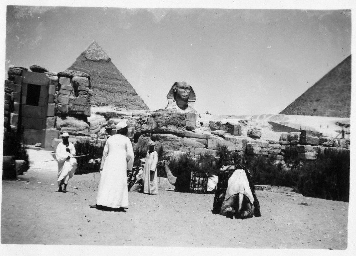 Гиза. Сфинкс и Пирамиды. 1930-е