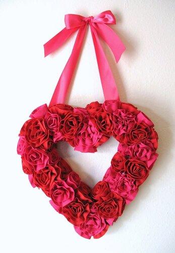 сердце из цветов мастер класс