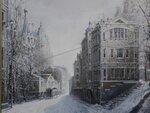 Зима в Москве. 2005. холст акр. масло. 70х90см