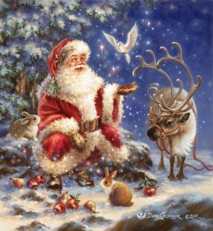 Санта и три его сисястые снегурочки 6 фотография