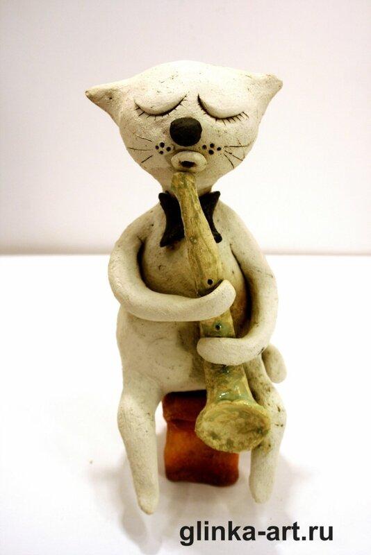 авторская керамика, кот, команда художников