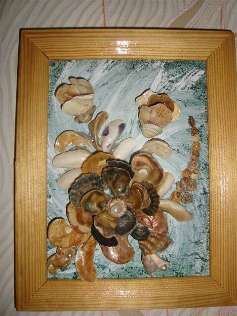 Картины из ракушек Ирины Аполлоновой