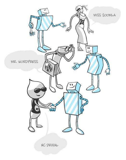 Персонажи с иллюстраций для нового продукта