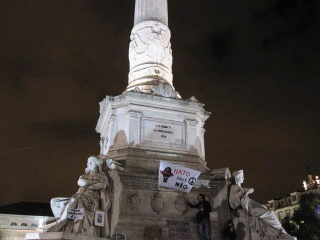 Протесты против саммита НАТО в Лиссабоне