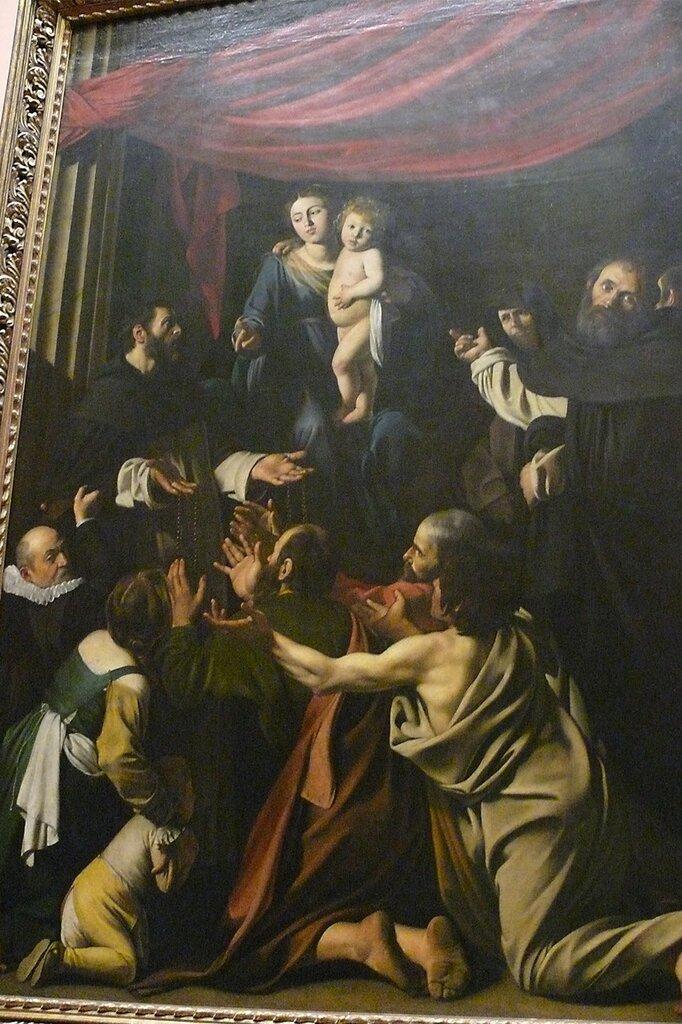 """Караваджо. """"Мадонна с четками"""", ок.1606-1607 гг."""