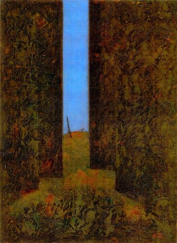 Азат Сафин. Лес, 1996, к.,м.,39x29