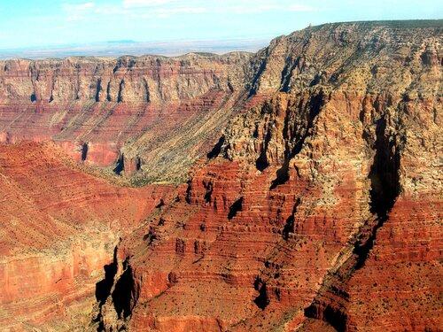 Гранд-каньон днём такого цвета...