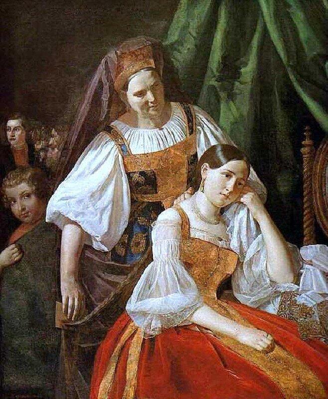 В.Е. Феклистов Приготовление невесты к венцу 1848