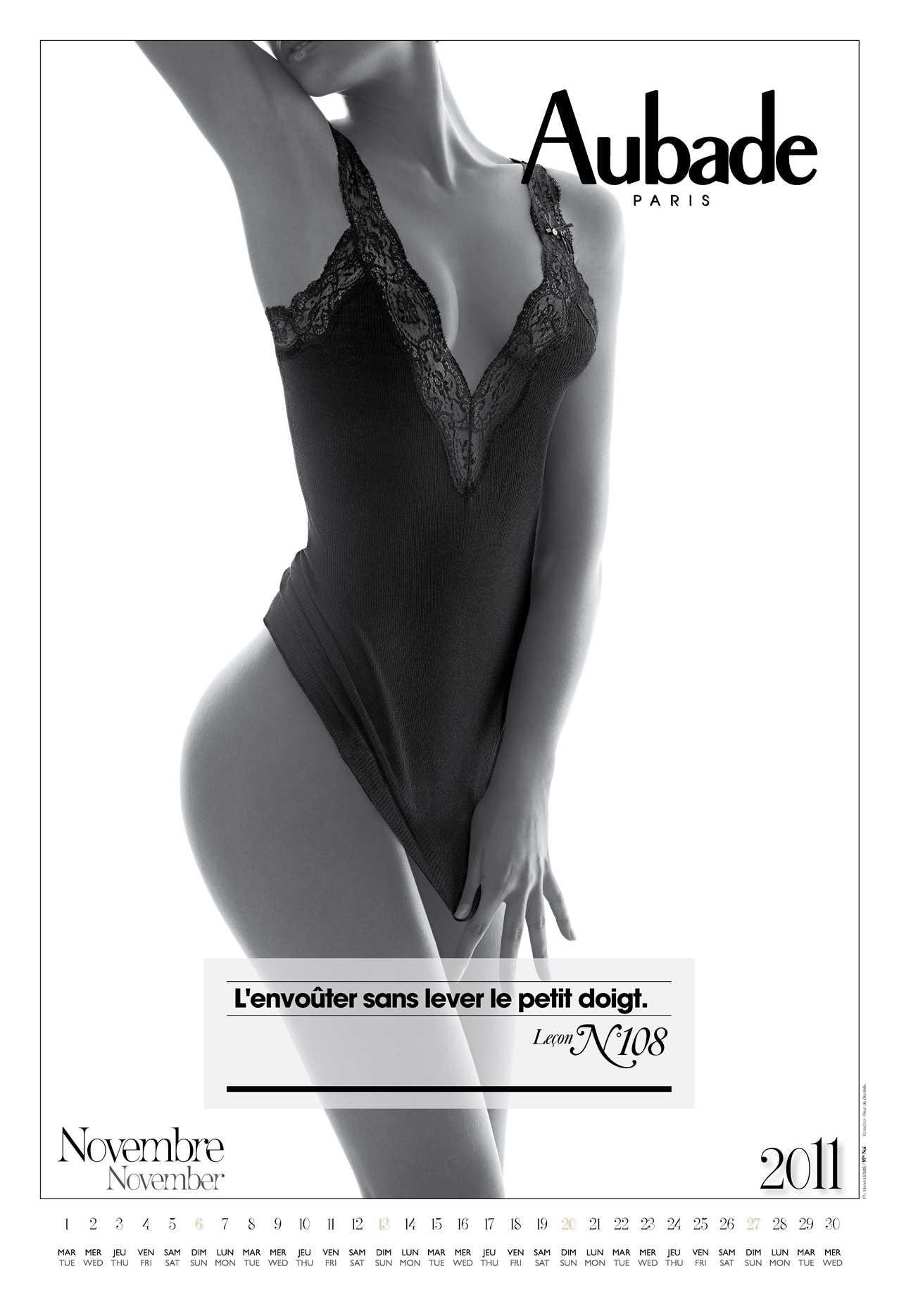 Aubade Lingerie 2011 calendar