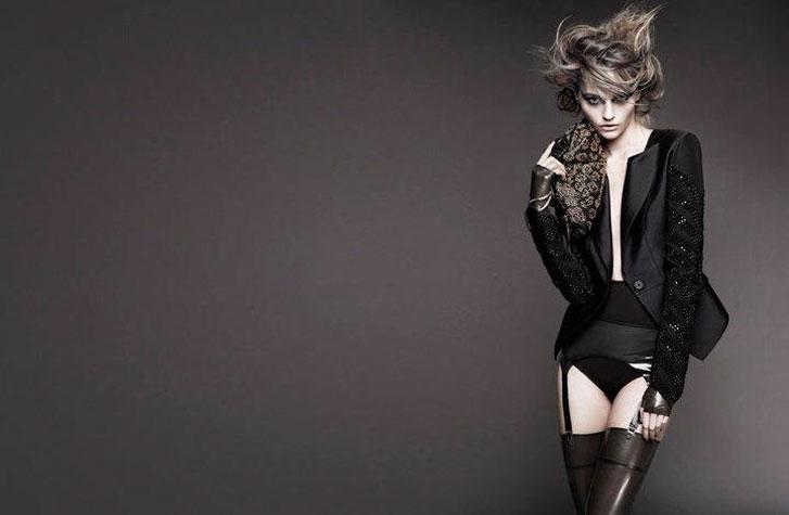модель Саша Пивоварова / Sasha Pivovarova, фотограф Greg Kadel