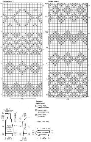 Жаккардовый жакет и гетры схема