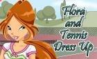 Игра винкс одевалка Флоры для Тениса (Winx Games)