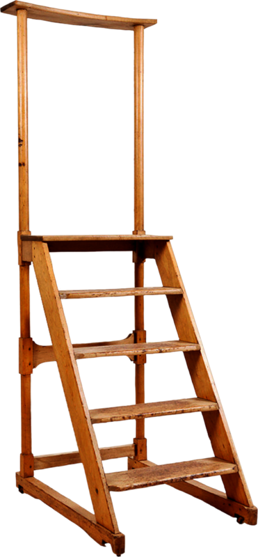 dkerkhof - libby the librarian - antique step ladder.png