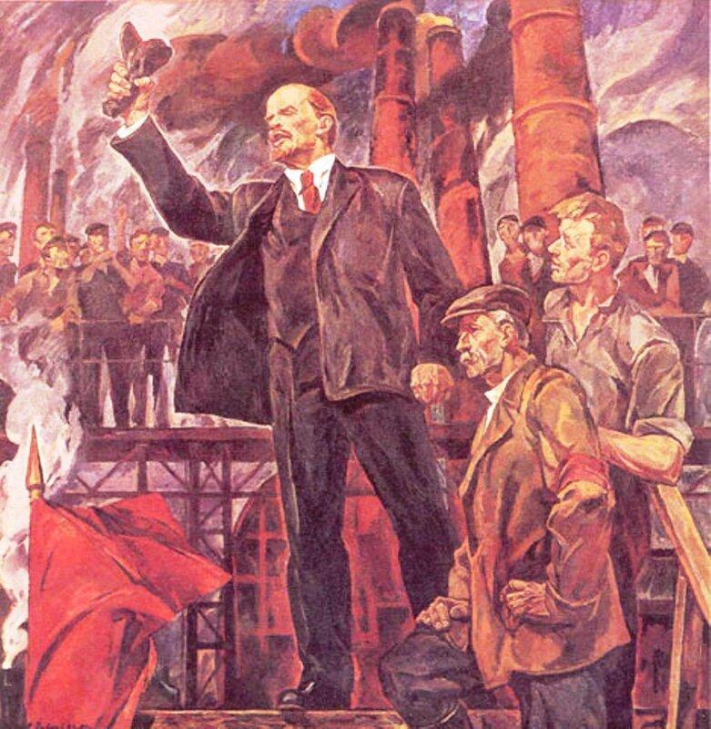 Выступление Ленина на одном из петроградских заводов..jpg