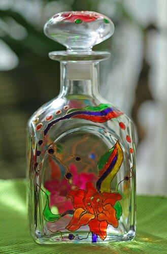 витражная роспись бутылок