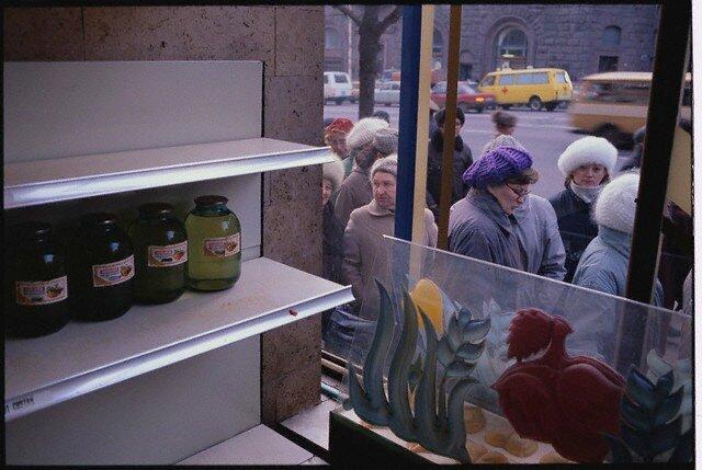 Soviet People on Food Line